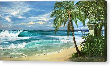 Oahu Canvas Print - North Shore by Lisa Reinhardt
