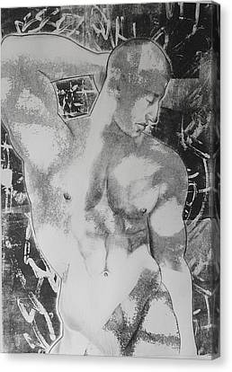 Homo-erotic Canvas Print - Nude 1 by Carmine Santaniello