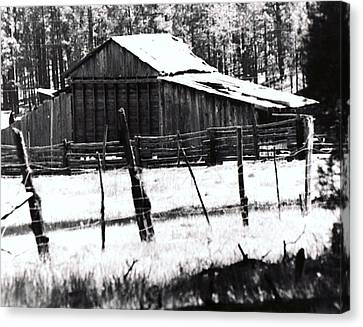 Canvas Print featuring the photograph Old Barn Alpine Az  by Juls Adams