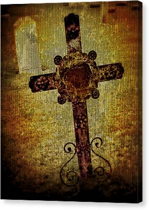 Old Cross Canvas Print by Perry Webster