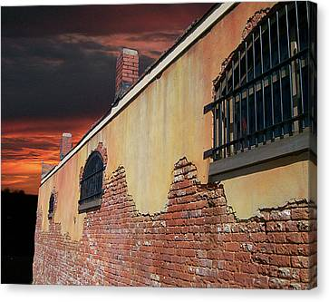 Canvas Print featuring the photograph Old Jail by Larry Bishop