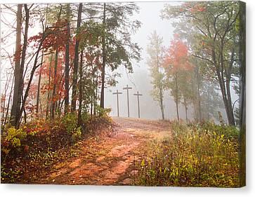 One Way Canvas Print by Debra and Dave Vanderlaan