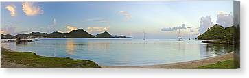 Canvas Print featuring the photograph Panoramic1- St Lucia by Chester Williams