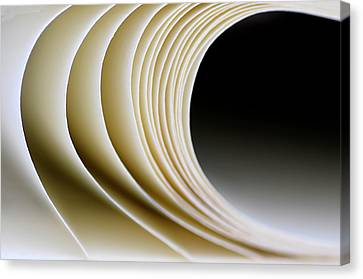 Canvas Print featuring the photograph Paper Curl by Pedro Cardona