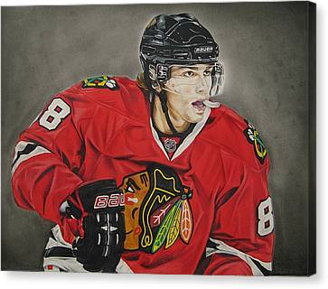National League Canvas Print - Patrick Kane by Brian Schuster