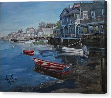Peaseful Harbor Canvas Print by David Poyant