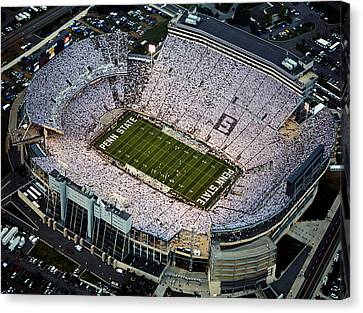Penn State Aerial View Of Beaver Stadium Canvas Print by Steve Manuel