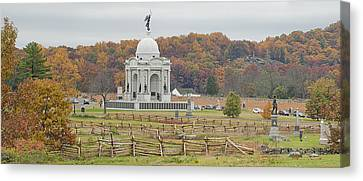 Pennsylvania Monument At With Little Canvas Print