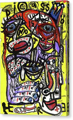 Picasso Has Left The Building Canvas Print by Robert Wolverton Jr