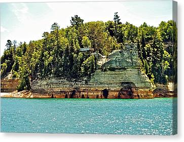 Pictured Rock 6323  Canvas Print by Michael Peychich