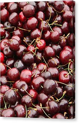 Grocery Store Canvas Print - Pile Of Cherries by Carol Groenen