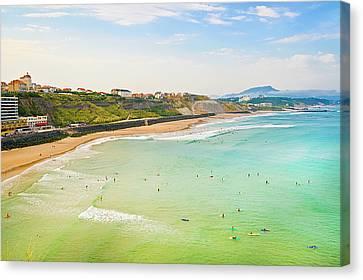 Plage De La Cote Des Basques, Biarritz, Aquitaine, Canvas Print by John Harper