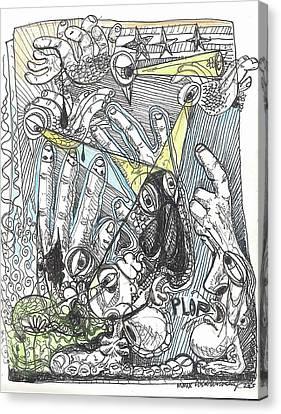 Plop Canvas Print by Robert Wolverton Jr