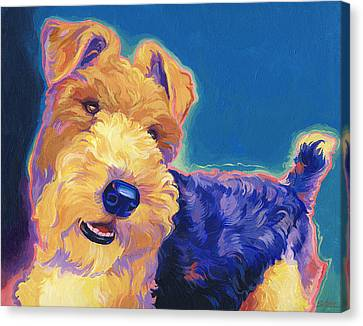 Fox Terrier Canvas Print - Pop Wire Hair Fox Terrier by Shawn Shea