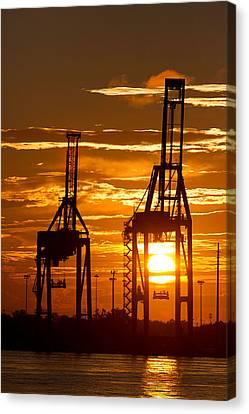 Port Of Charleston Sunset II  Canvas Print by Dustin K Ryan