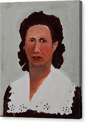 Portrait Of A Woman Canvas Print by Swabby Soileau