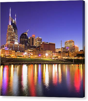 Downtown Nashville Canvas Print - Purple Nashville - Tennessee Skyline Photography by Gregory Ballos