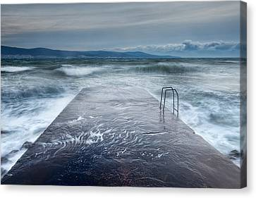 Raging Sea Canvas Print by Evgeni Dinev