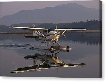 Reflections Of A Float Plane Canvas Print by Darcy Michaelchuk