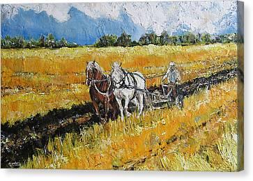 Refreshing The Soil Canvas Print by Debora Cardaci