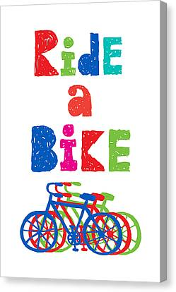 Ride A Bike - Sketchy  Canvas Print by Andi Bird