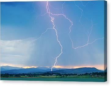 Rocky Mountain Front Range Foothills Lightning Strikes 1 Canvas Print
