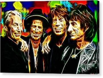 Rolling Stones Mystical Canvas Print by Paul Van Scott