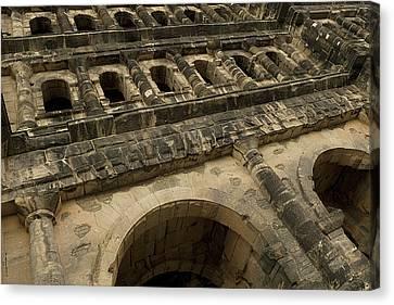 Canvas Print featuring the photograph Roman City Gate - Porta Nigra by Urft Valley Art