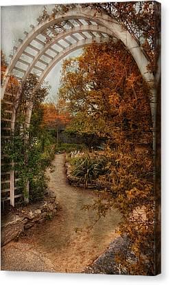 Rusting Garden Canvas Print by Robin-Lee Vieira