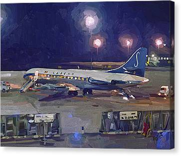 Sabena Caravelle At Stockholm 1965 Canvas Print