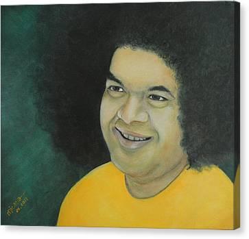 Sai Baba In Memoriam Canvas Print by Desiree Micaela