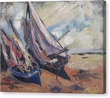 Sail Boats Canvas Print by Debora Cardaci