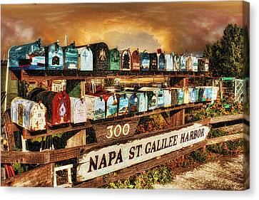 Sausalito Canvas Print - Sailors Mailbox by Michael Cleere