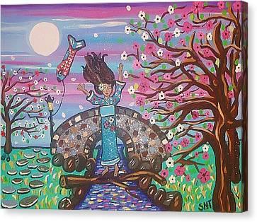 Sakura Dreams Canvas Print by Stephanie Temple