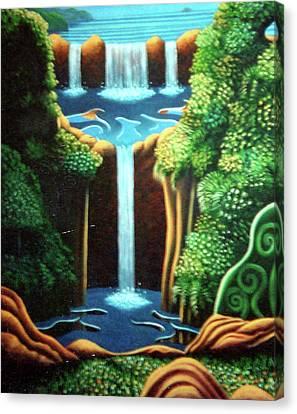 Saltwater Falls 3 Canvas Print by Barbara Stirrup