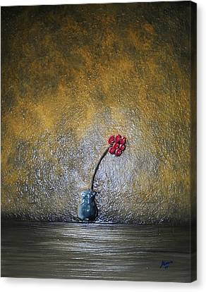 Canvas Print featuring the painting Seclude  by Edwin Alverio