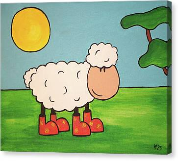 Canvas Print featuring the painting Sheeep by Sheep McTavish