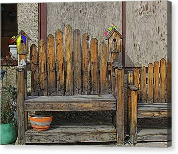Canvas Print featuring the photograph Sit With The Birds by Tammy Sutherland