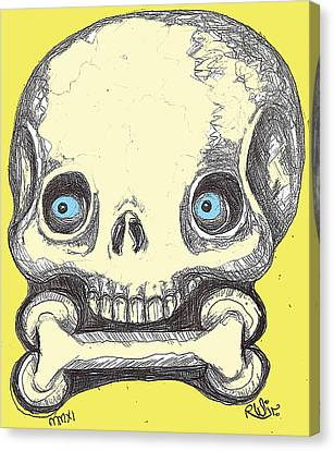 Skullnbone Canvas Print by Robert Wolverton Jr