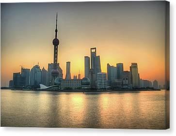 Skyline At Sunrise Canvas Print