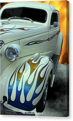 Smokin' Hot - 1938 Chevy Coupe Canvas Print by Betty Northcutt