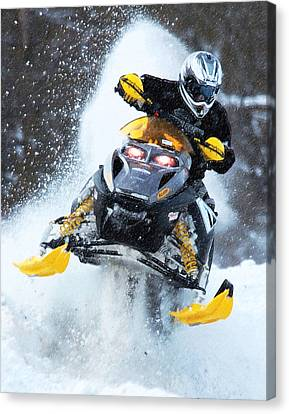 Snocross Canvas Print by Wade Aiken