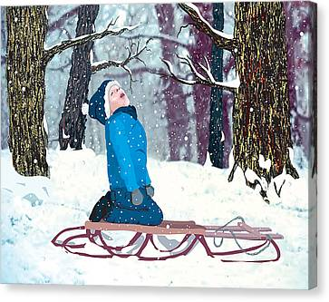 Snow Trance Canvas Print by Terry Cork