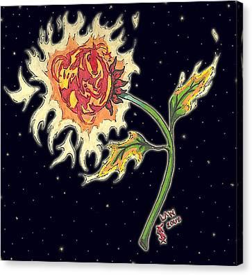 Solar Sun Flower Canvas Print by Law Stinson