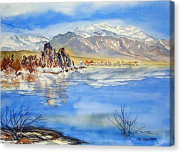 Canvas Print featuring the painting South Tufa by Pat Crowther