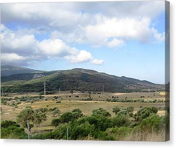 Spain Country Side Near Costa Del Sol Canvas Print by John Shiron