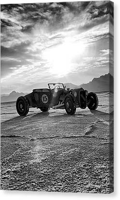 Salt Flats Canvas Print - Speed Week Roadster by Holly Martin