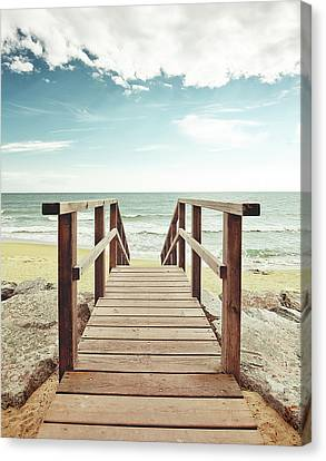 Clouds Over Sea Canvas Print - Spring Summer by by Ibai Acevedo