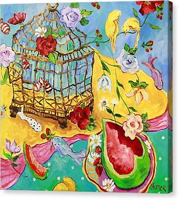Springtime Romance Canvas Print by Sharon Furner