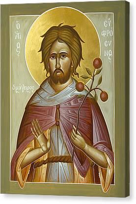 St Euphrosynos The Cook Canvas Print